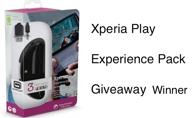 Sony Xperia Play Experience Pack – Giveaway Winner
