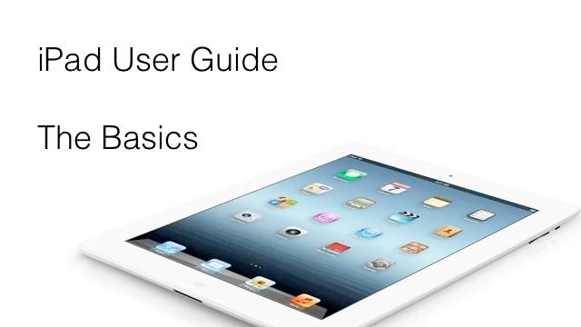 ipad user guide the basics zollotech rh zollotech com iPad 2 Layout iPad 2 Guide Book