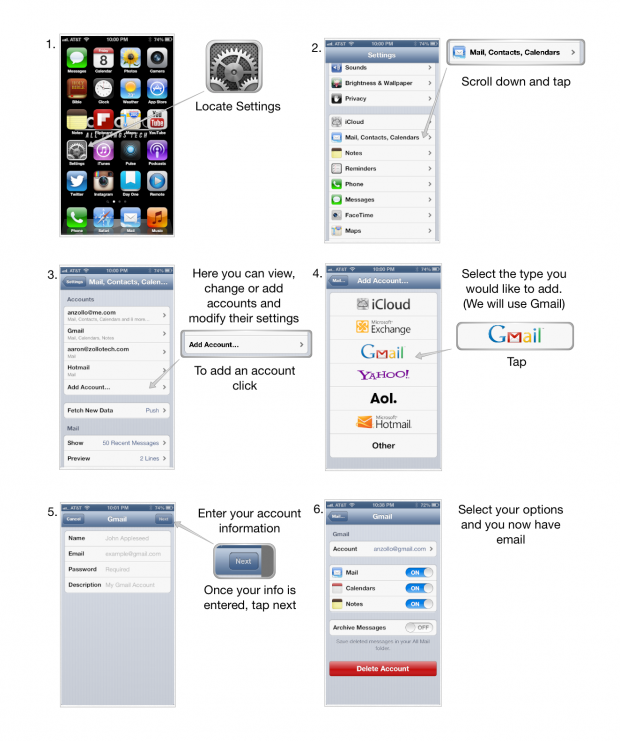 add email account to iPhone