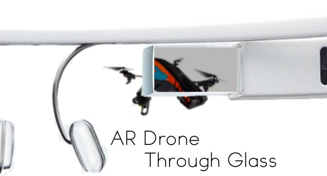 ar drone through glass