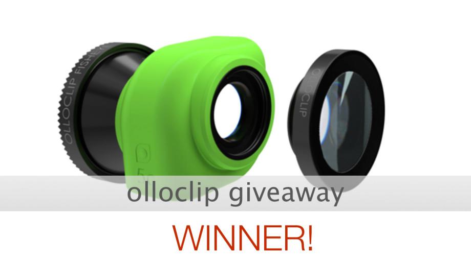 olloclip giveaway winner