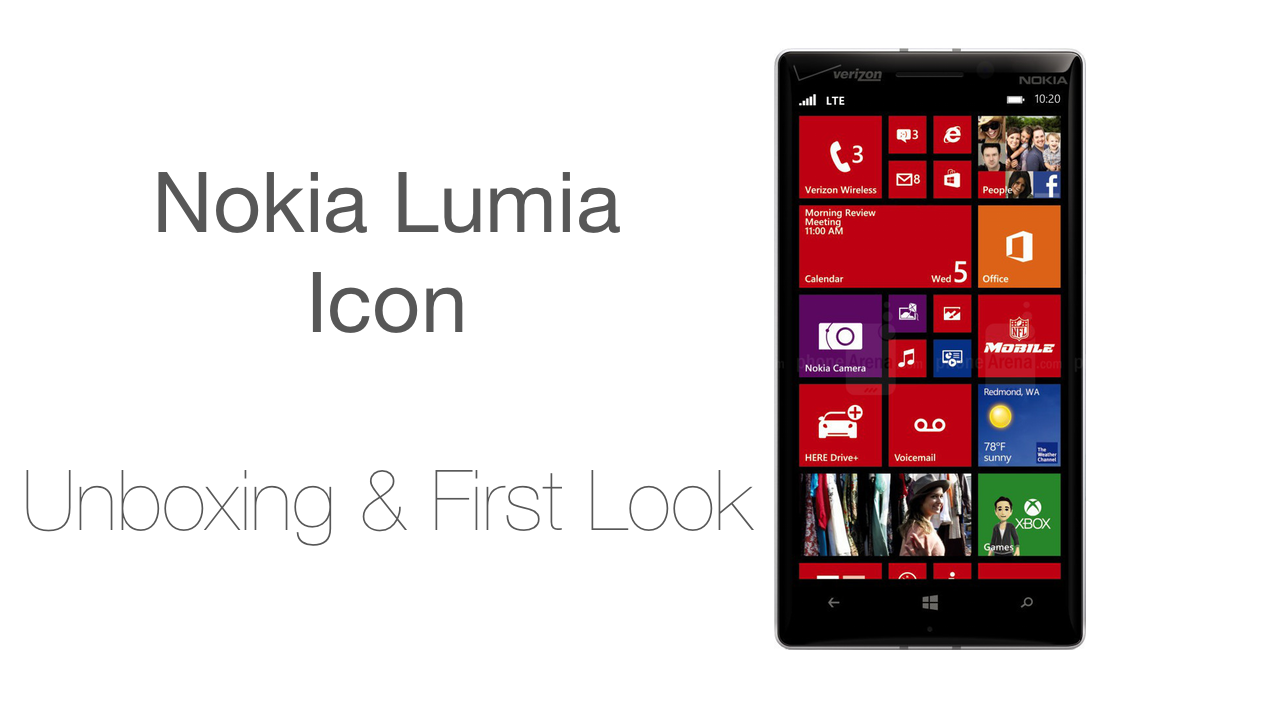 Nokia Lumia Icon Unboxing and FIrst Look
