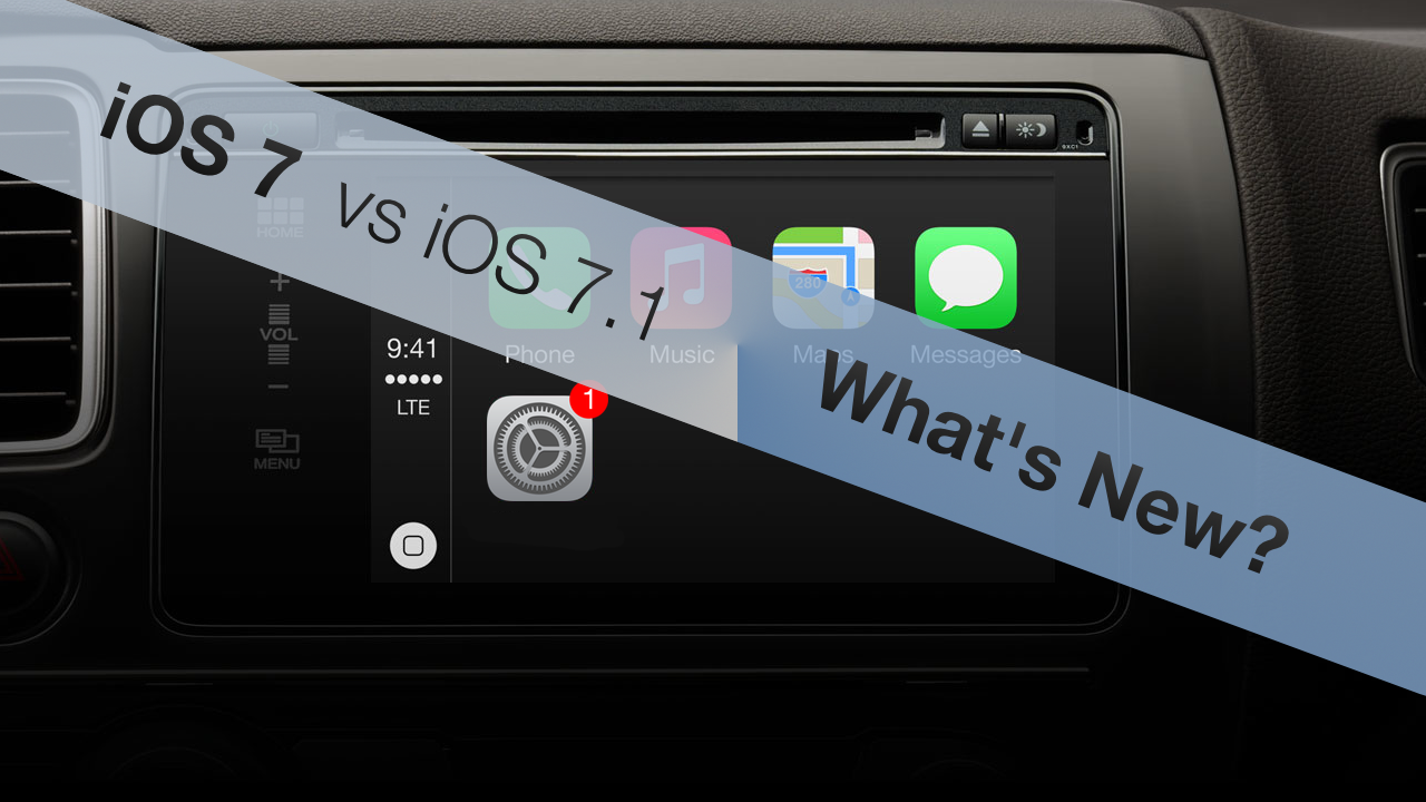 iOS 7 vs iOS 7.1 – What's New?