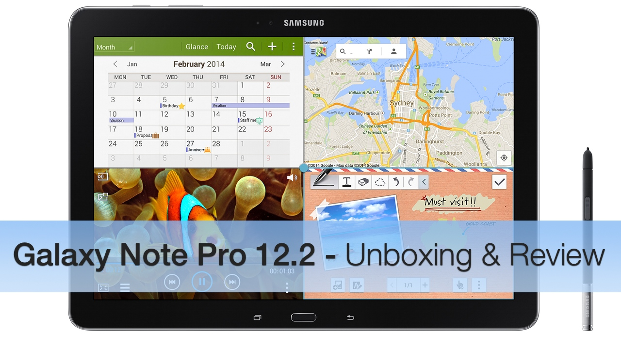 Galaxy Note Pro 12.2 – Unboxing and Review