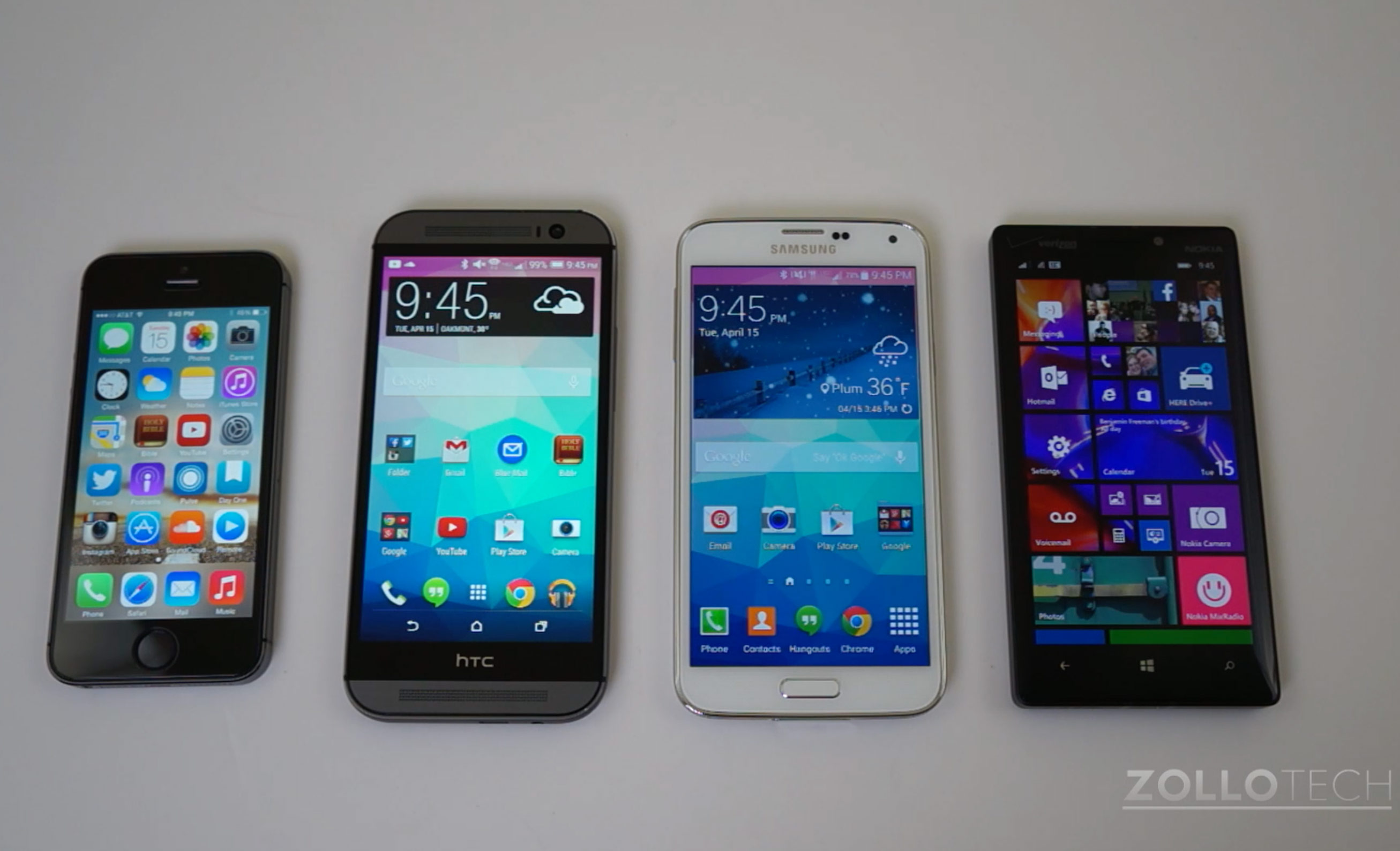 Benchmark Shootout:  iPhone 5s vs HTC One (M8) vs Galaxy S5 vs Lumia Icon