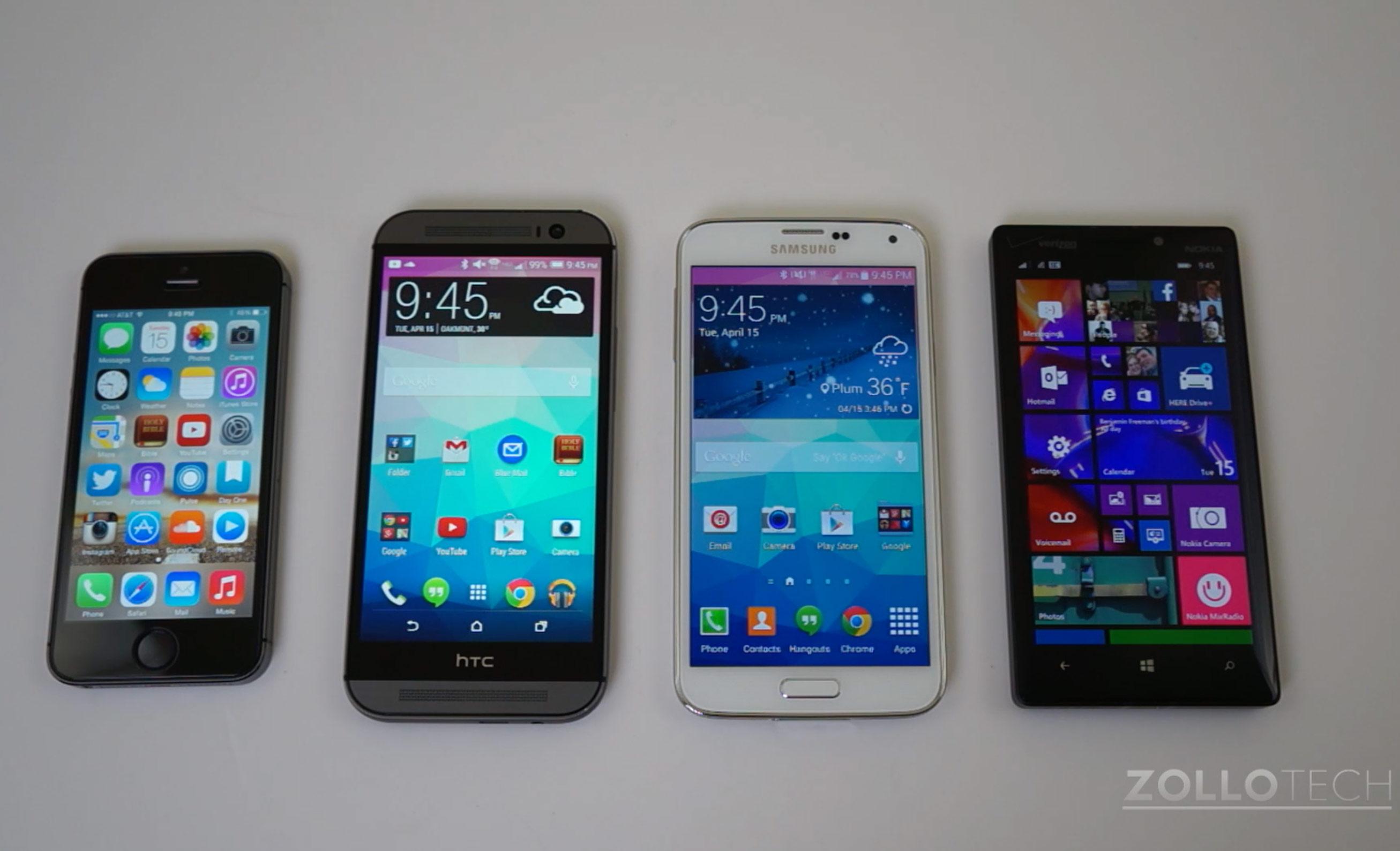 Benchmark Shootout:  iPhone 5s vs HTC One (M8) vs Galaxy S5 vs Lumia Icon