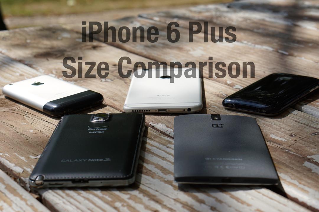 iPhone 6 Plus – Size Comparison