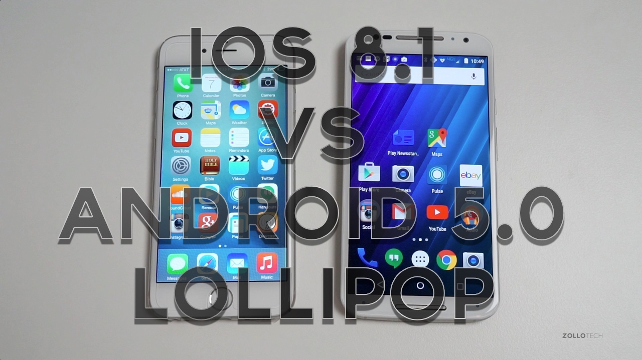iOS 8.1 vs Android 5.0 Lollipop