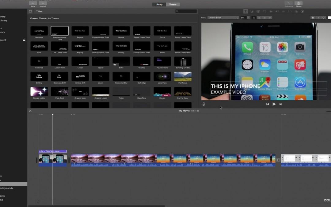 iMovie for Mac – The Basics