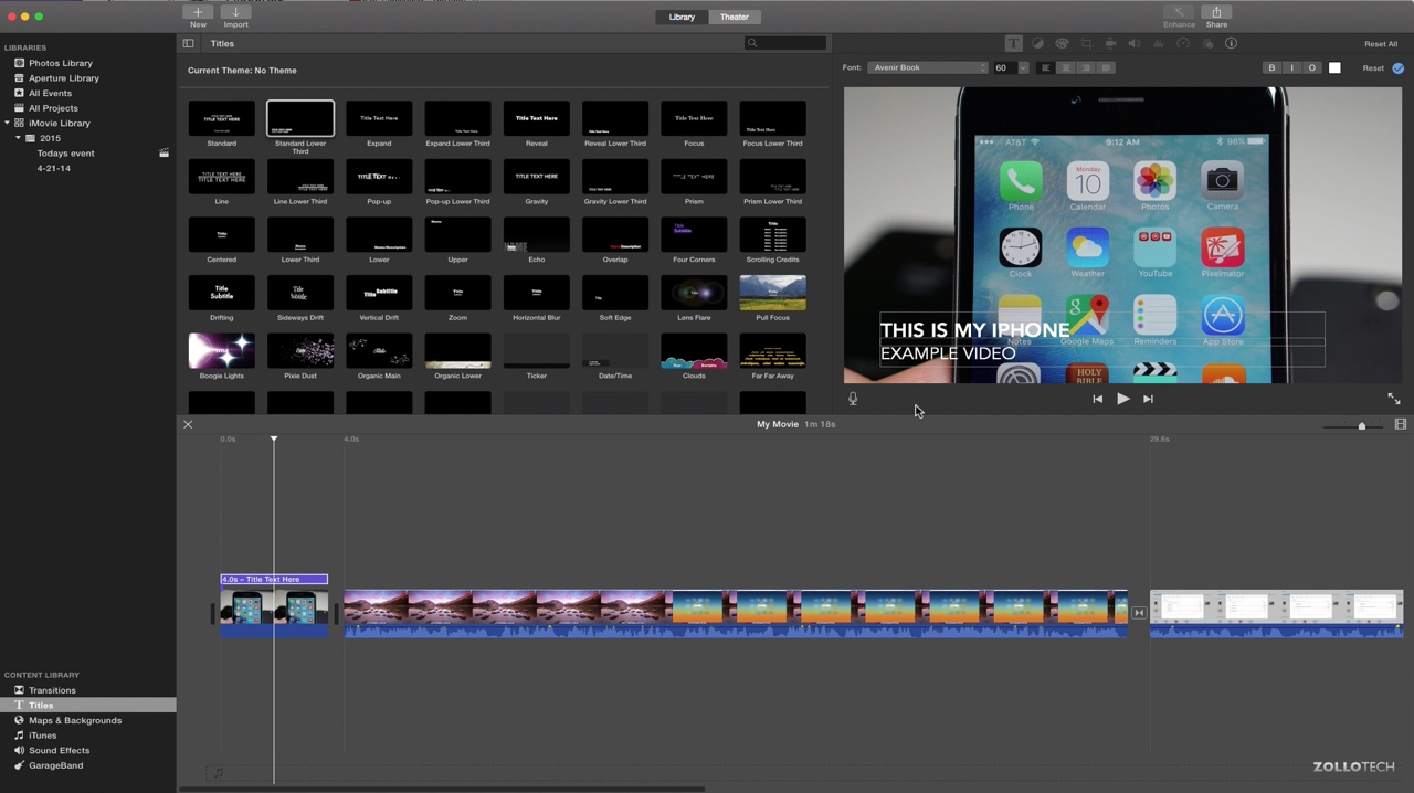 iMovie for Mac – The Basics