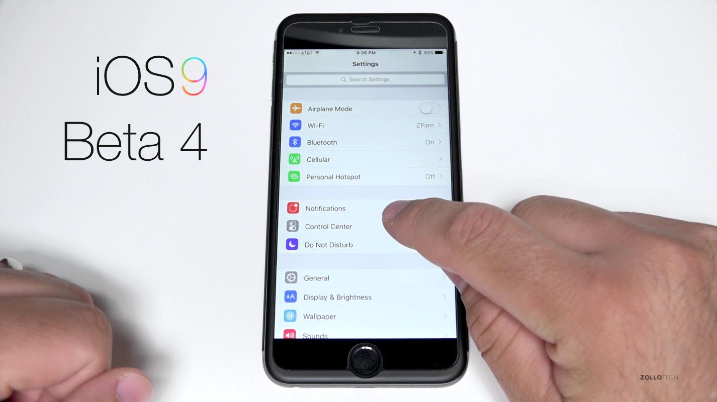 iOS 9 Beta 4 – What's New