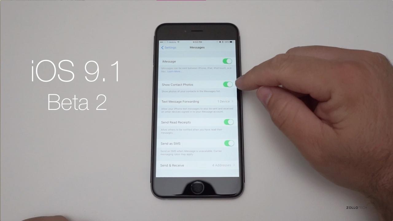 iOS 9.1 Beta 2 – What's New?