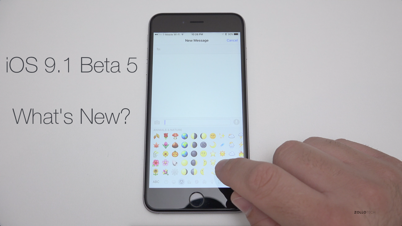 iOS 9.1 Beta 5 – What's New?