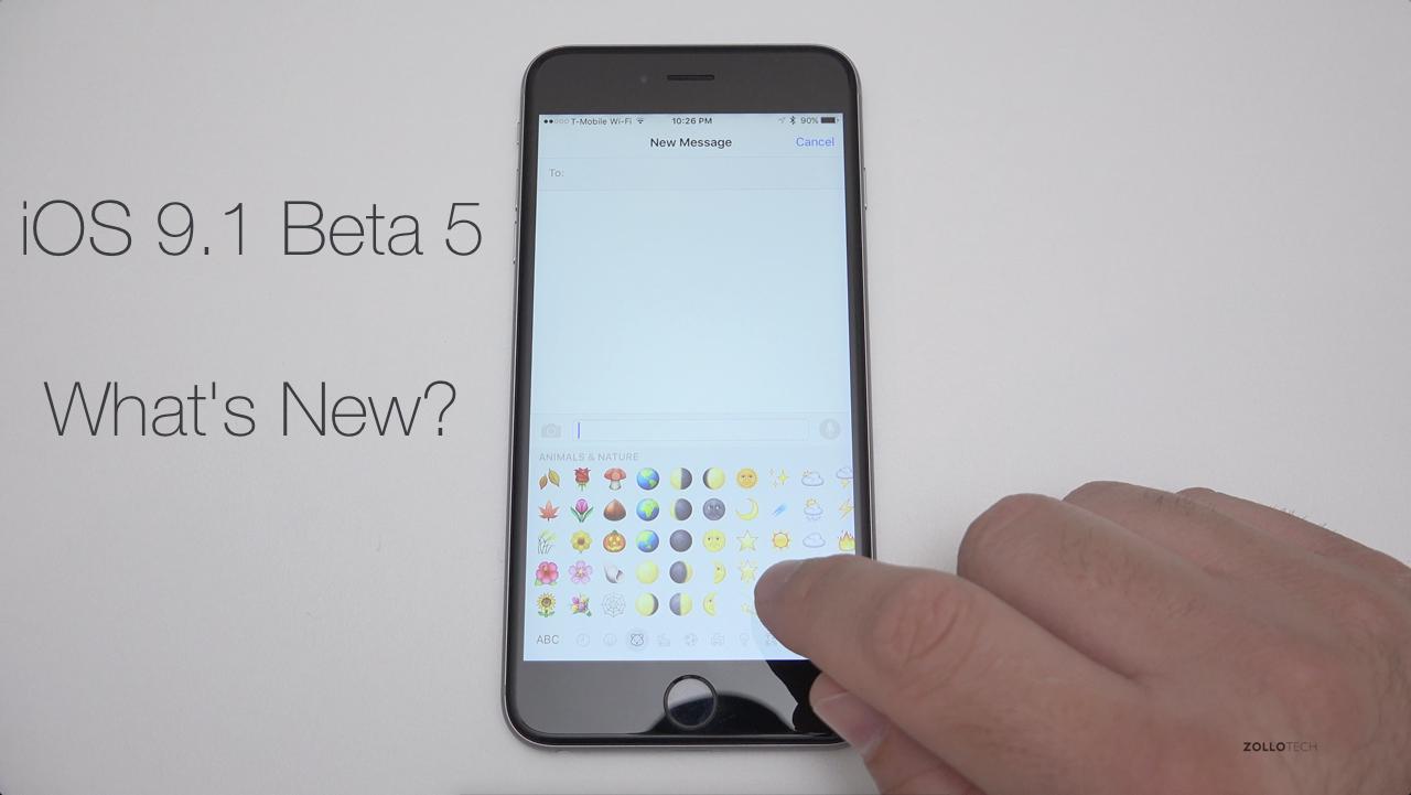 iOS 9.1 Beta 5 – What's New?