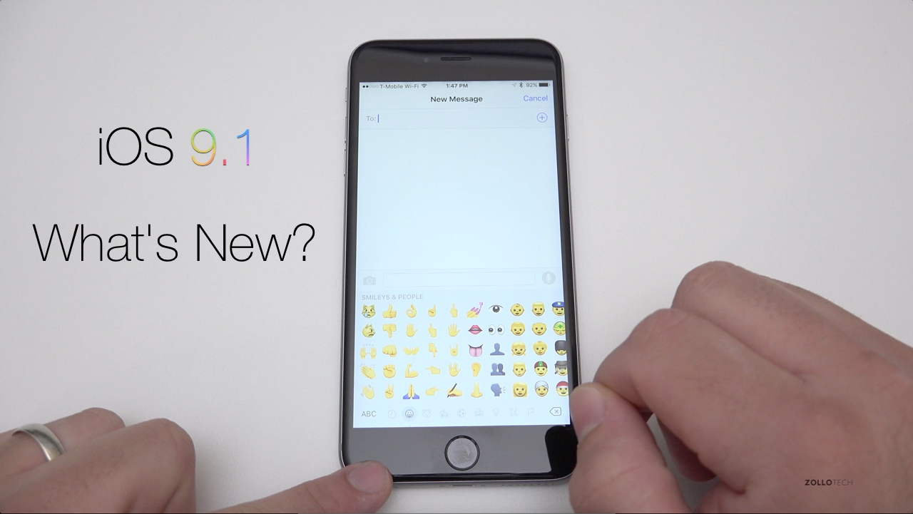 iOS 9.1 – What's New?