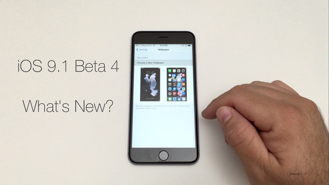 iOS 9.1 Beta 4 – What's New?