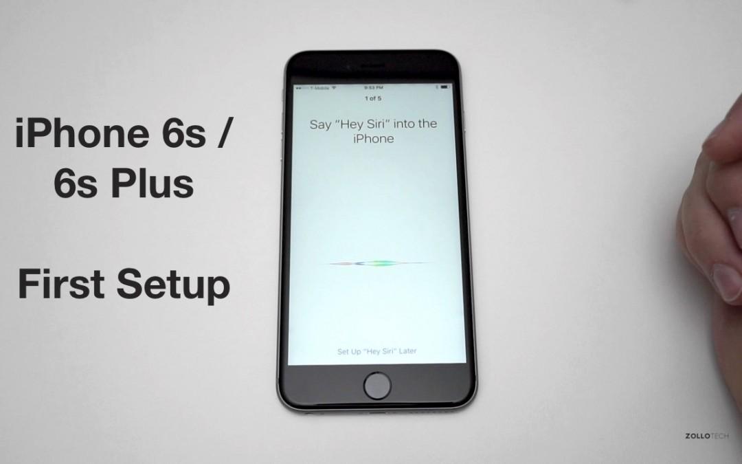 iPhone 6s Plus First Setup