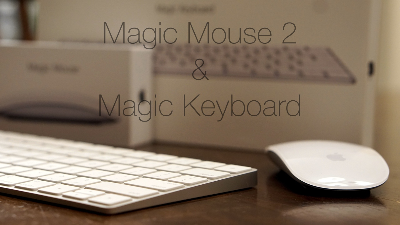 Magic Keyboard and Magic Mouse 2