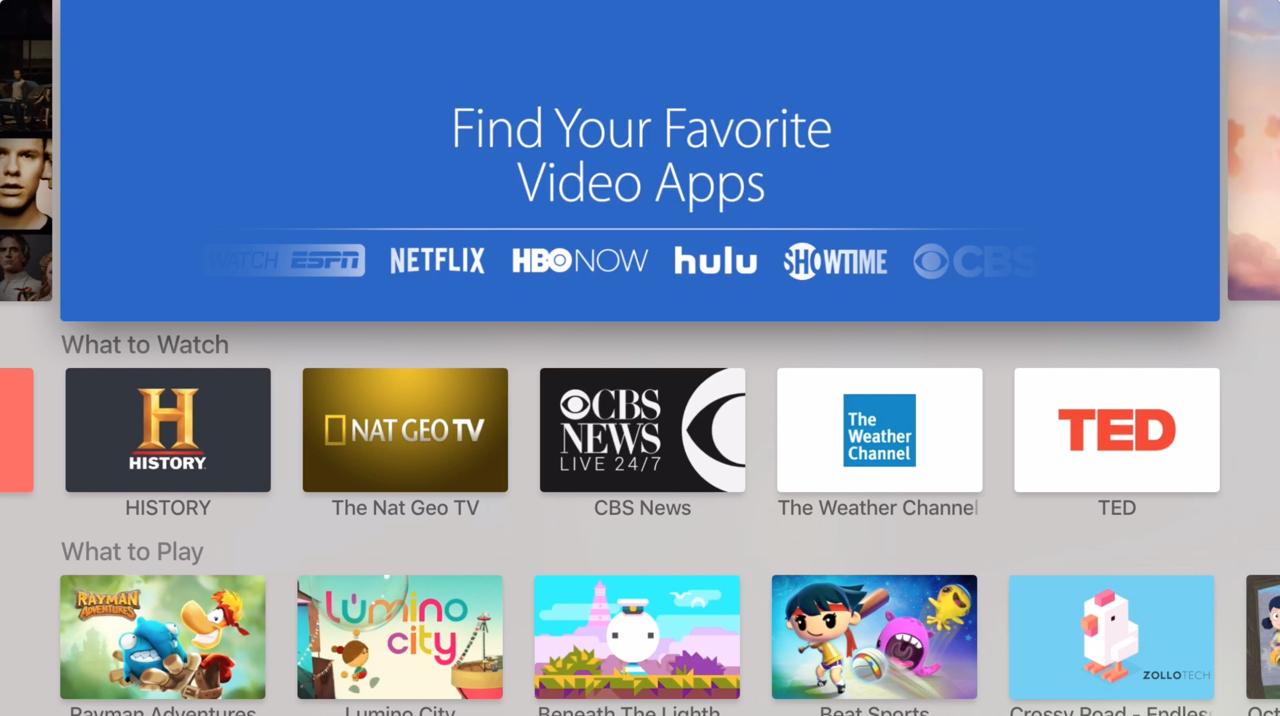 Apple TV (2015) – App Store