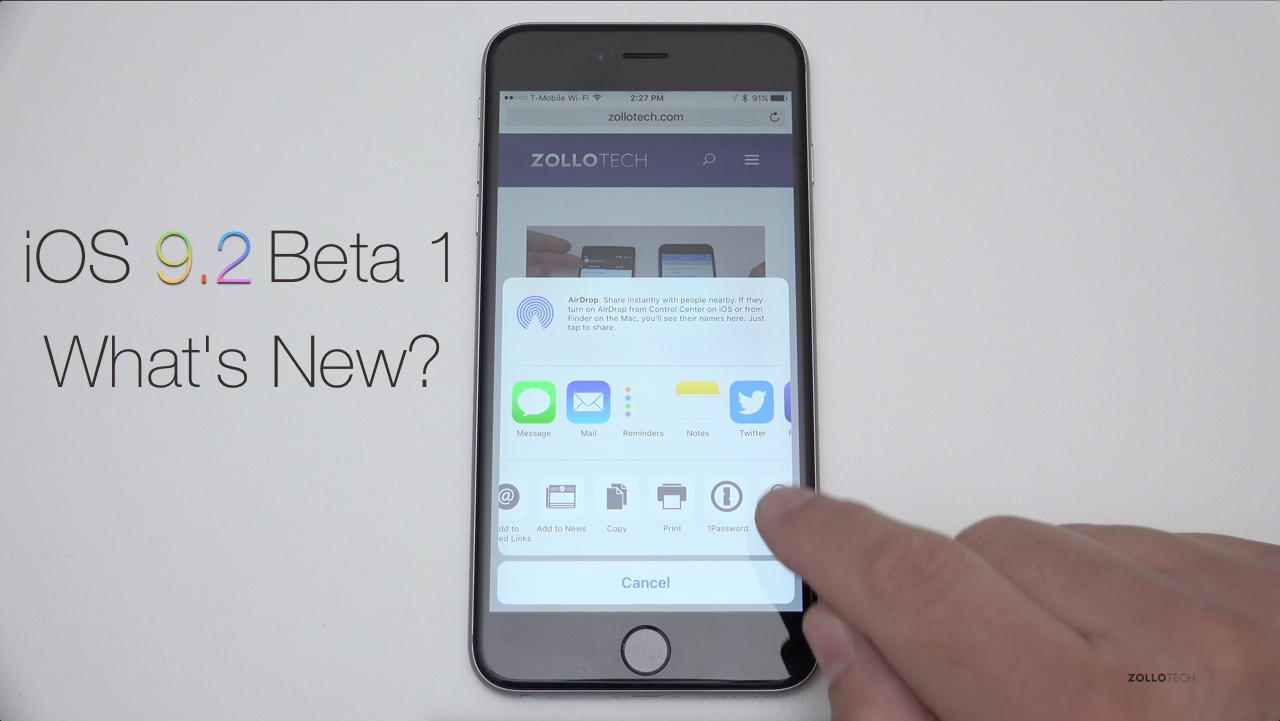 iOS 9.2 Beta 1 – What's New?