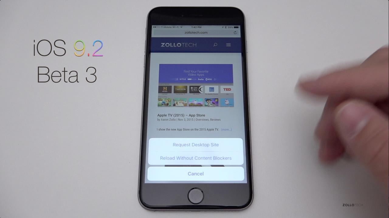 iOS 9.2 Beta 3 – What's New?