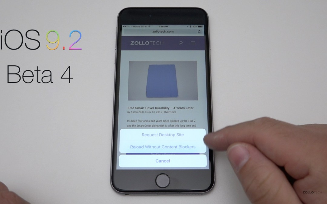 iOS 9.2 Beta 4 – What's New?