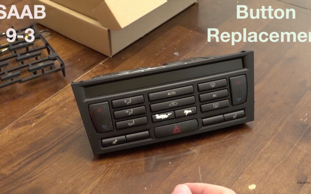 How to Replace Climate Control Buttons on a SAAB 9-3