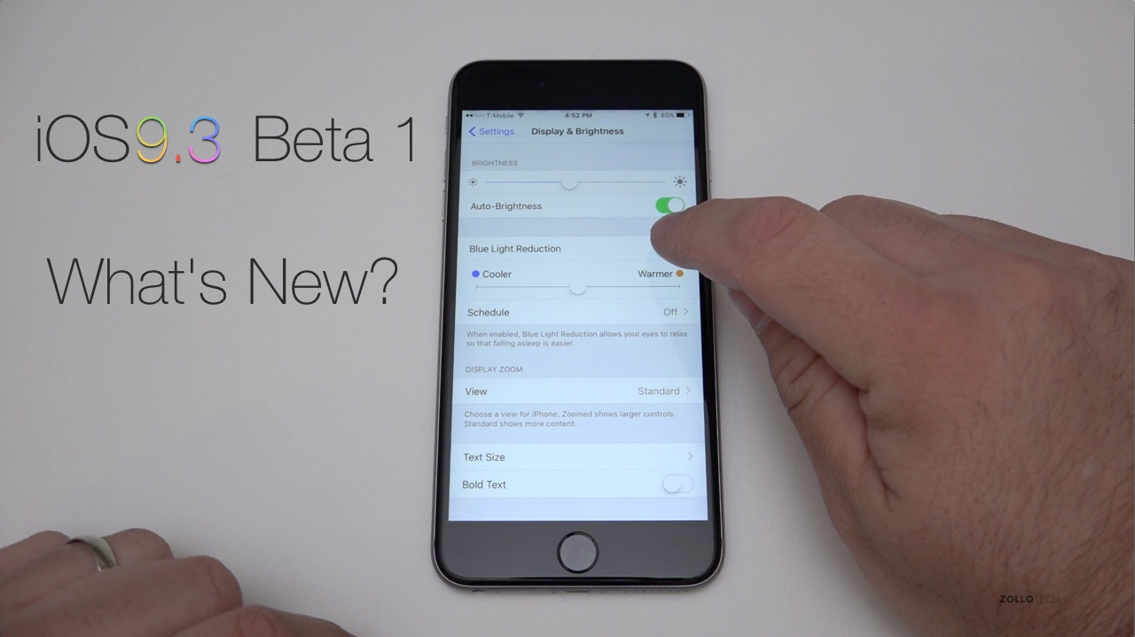 iOS 9.3 Beta 1 – What's New?
