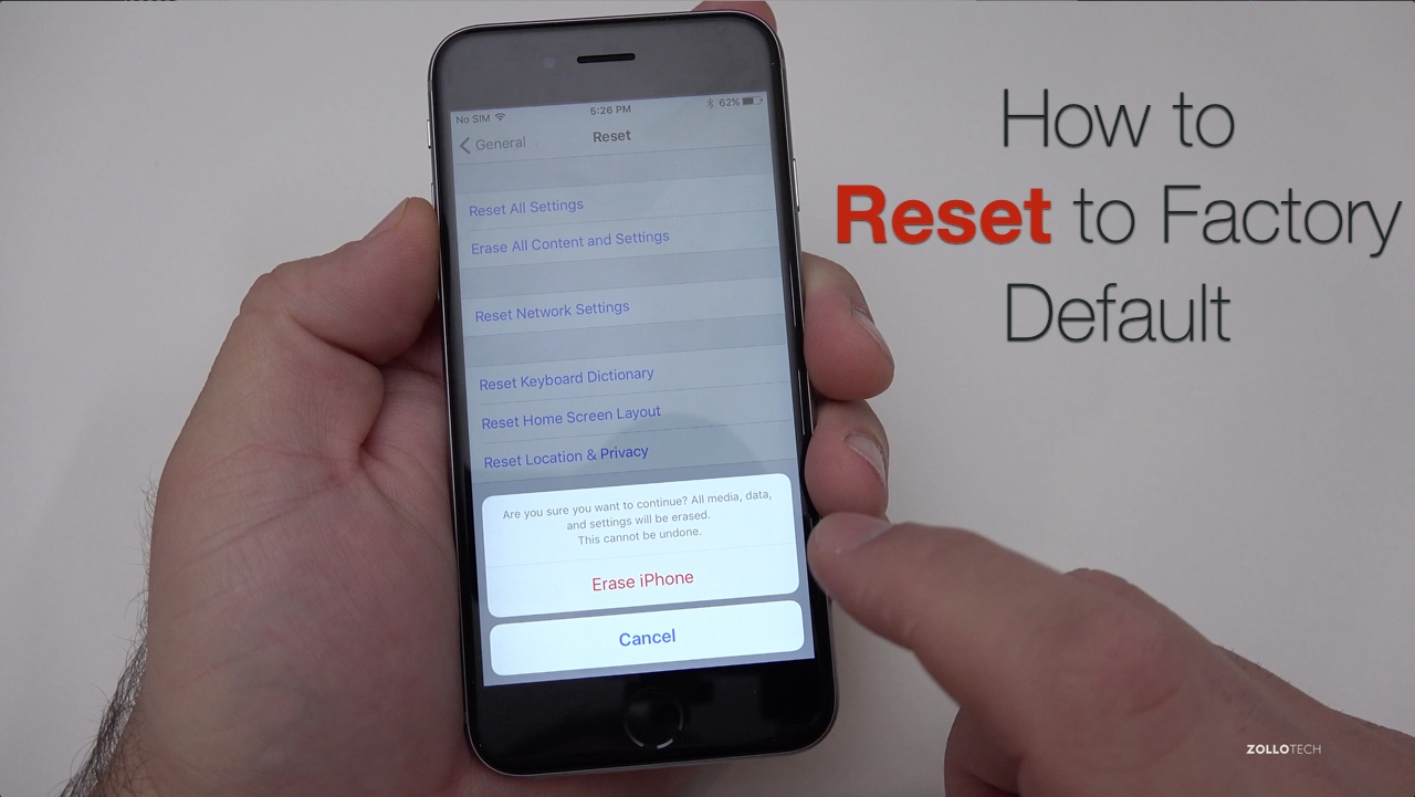How TO Reset an iPhone to Factory Settings