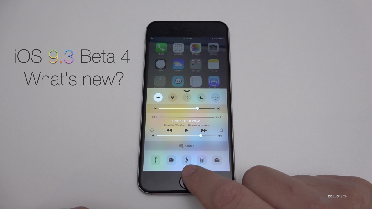 iOS 9.3 Beta 4 – What's New?