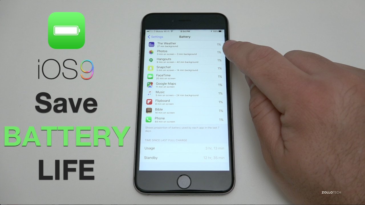 How to Save Battery Life on iOS 9 – iPhone and iPad Tips and Tricks