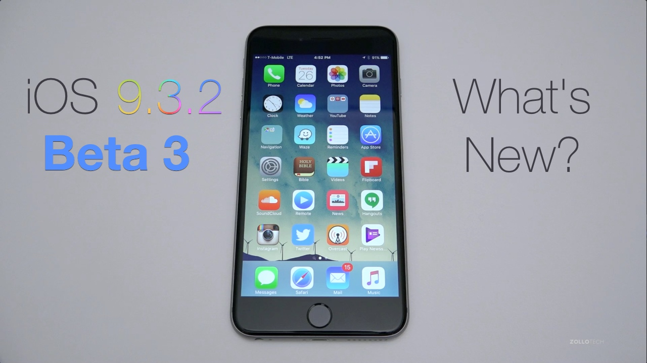 iOS 9.3.2 Beta 3 – What's New?