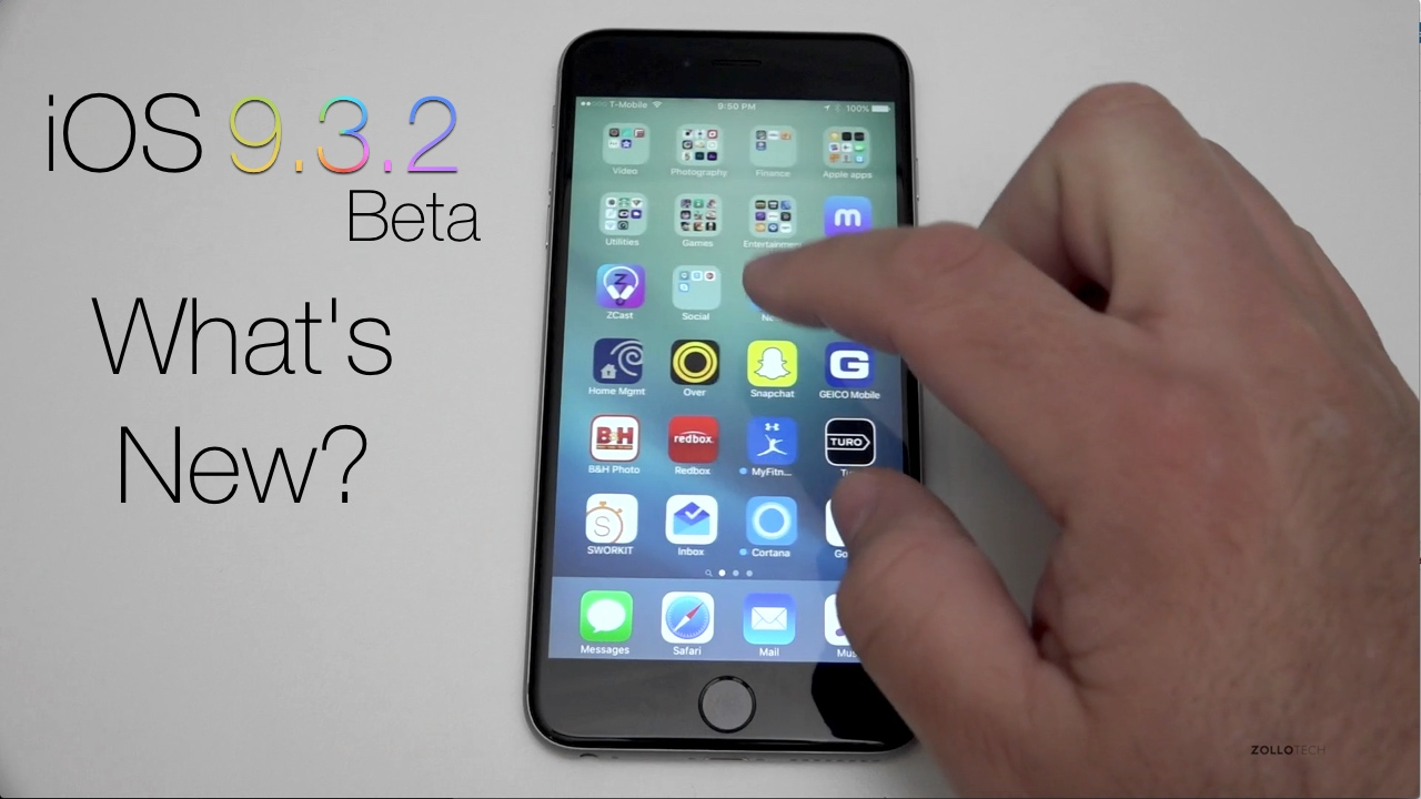 iOS 9.3.2 Beta 1 – What's New?