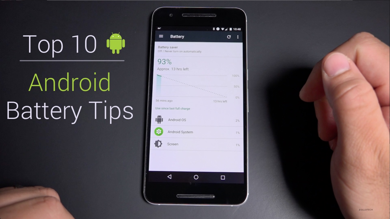 Top 10 Android Battery Saving Tips