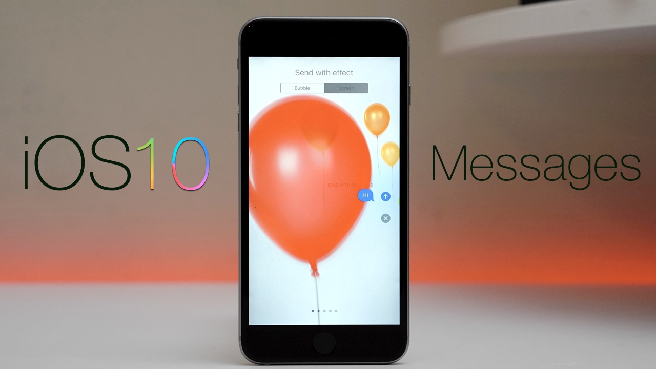 iOS 10 Messages – Full Overview