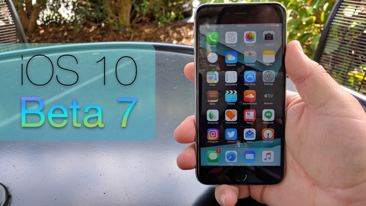 iOS 10 Beta 7 – What's New?
