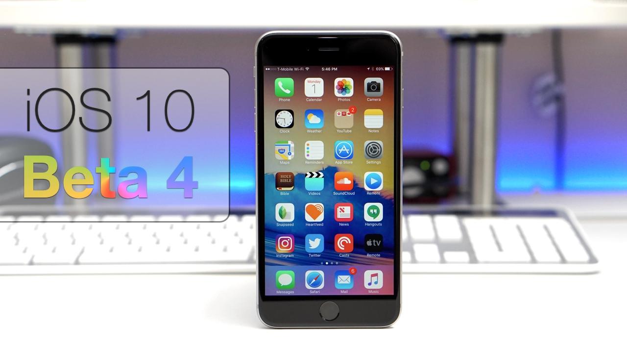 iOS 10 Beta 4 – What's New?