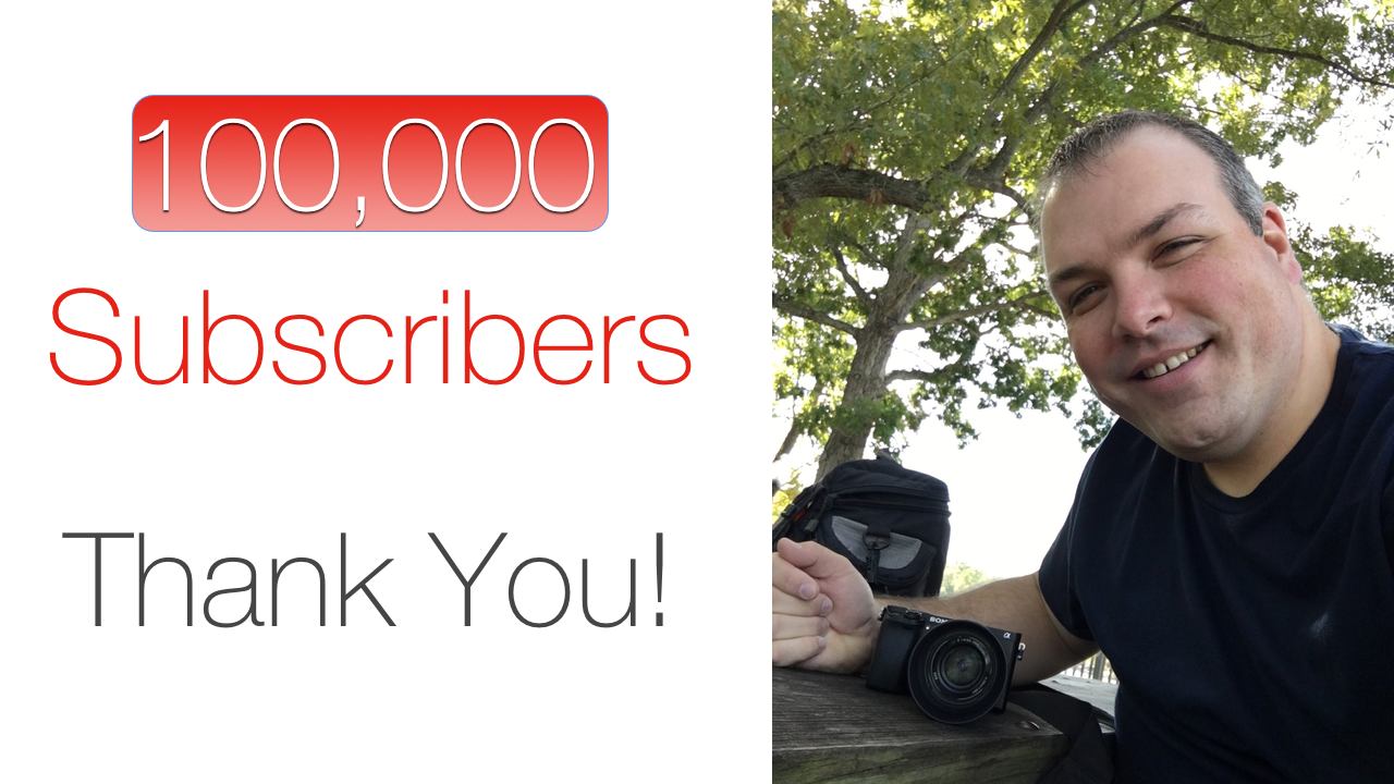 100,000 subscribers – Thank You