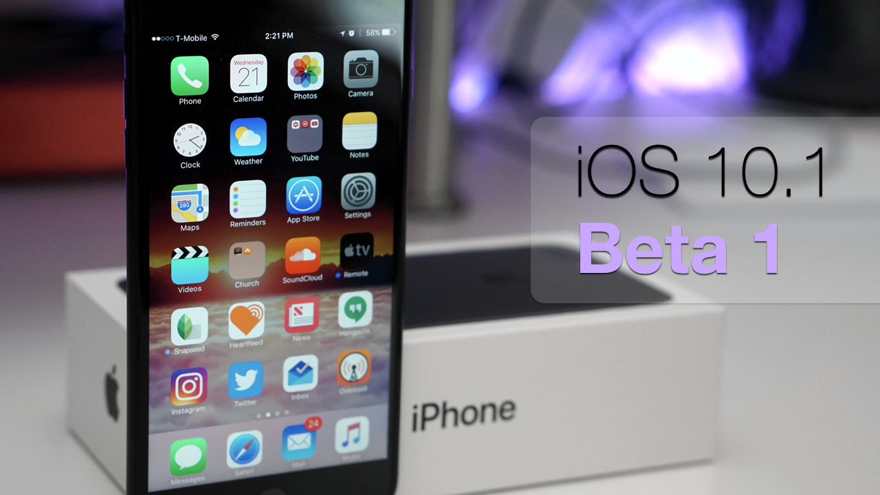 iOS 10.1 Beta 1 – What's New?