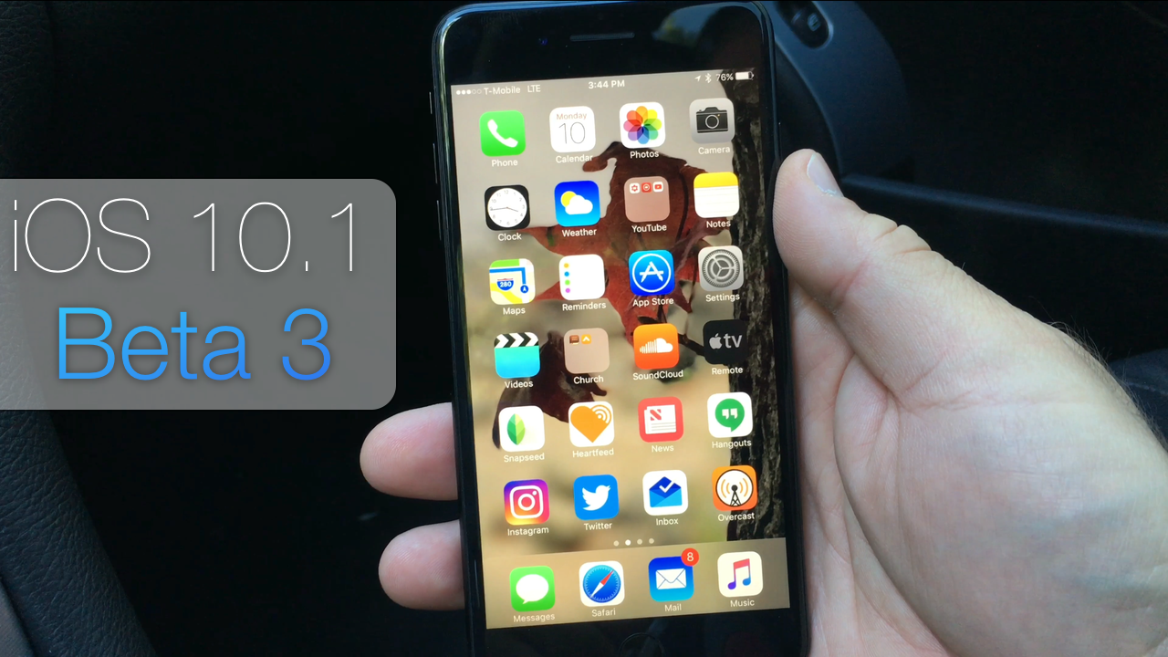 iOS 10.1 Beta 3 – What's New?