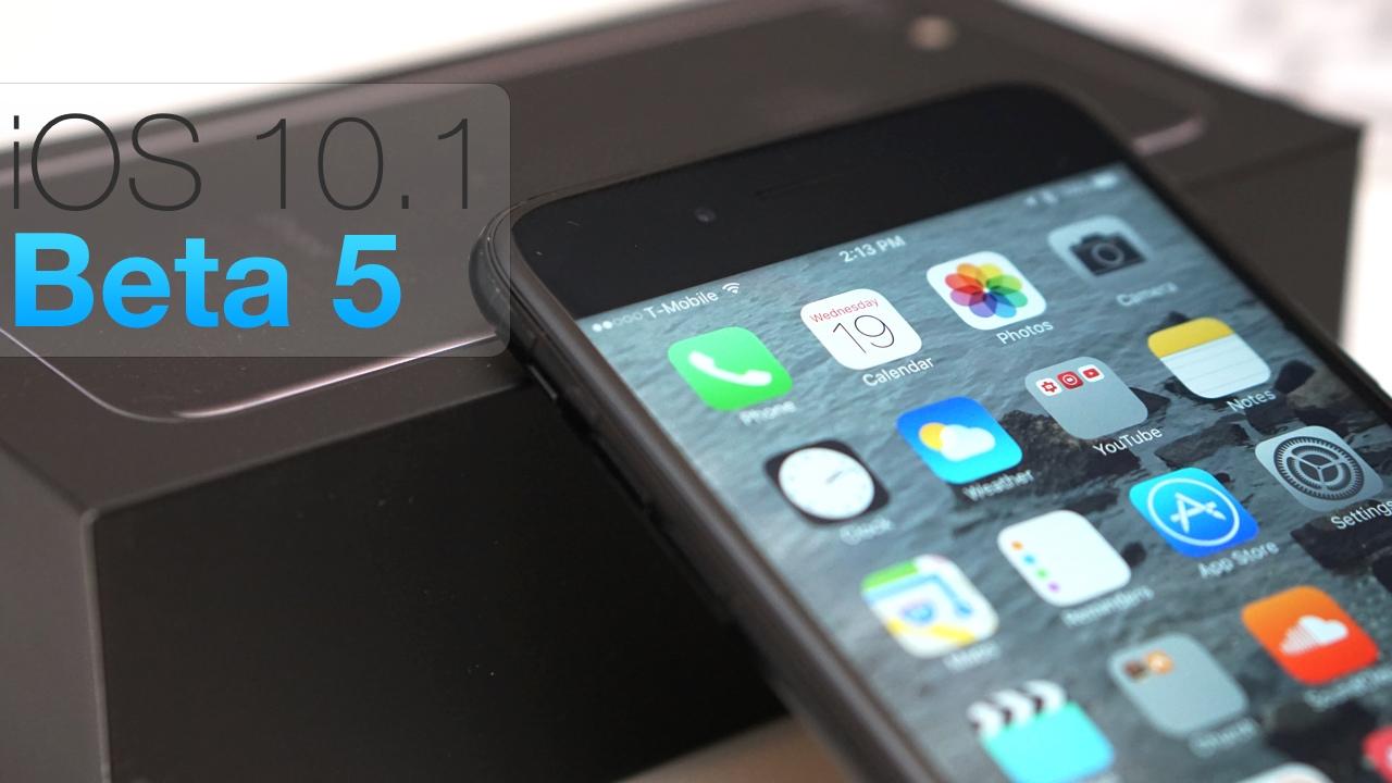 iOS 10.1 Beta 5 – What's New?