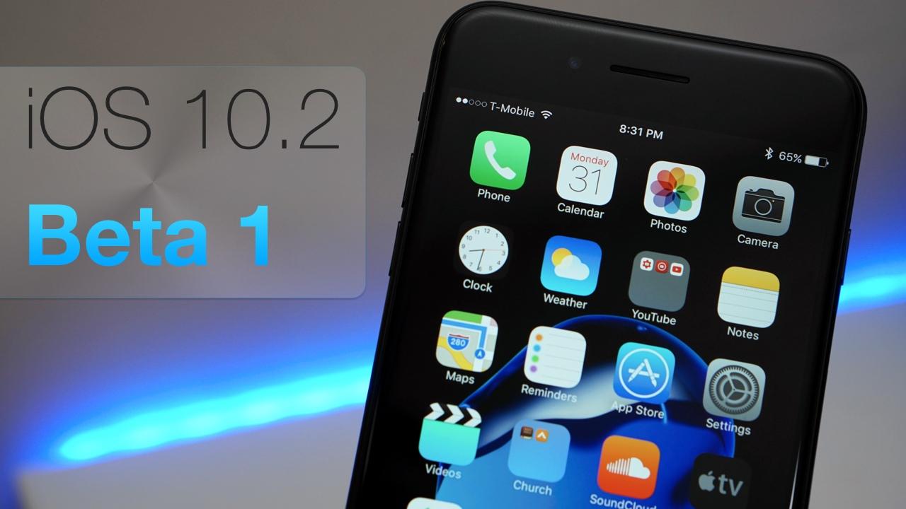 iOS 10.2 Beta 1 – What's New?