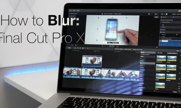 How To Blur or Hide in Final Cut Pro X