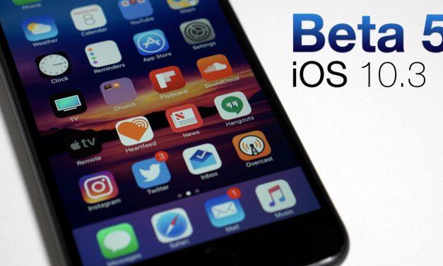 iOS 10.3 Beta 5 – What's New?
