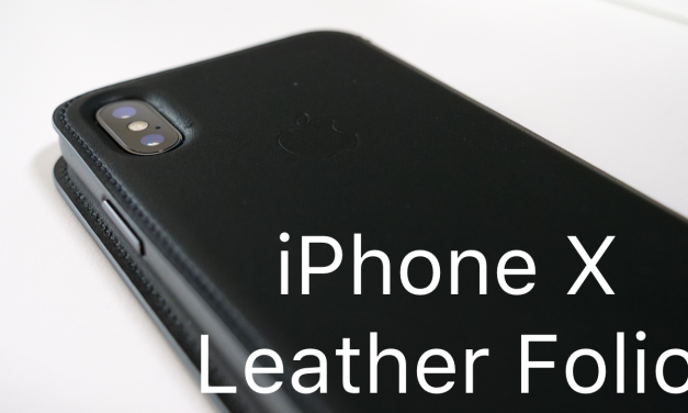 Official iPhone X Leather Folio Case
