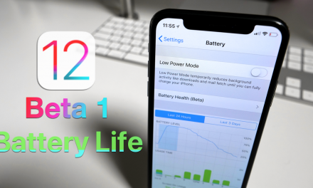 iOS 12 Beta 1 – Battery life