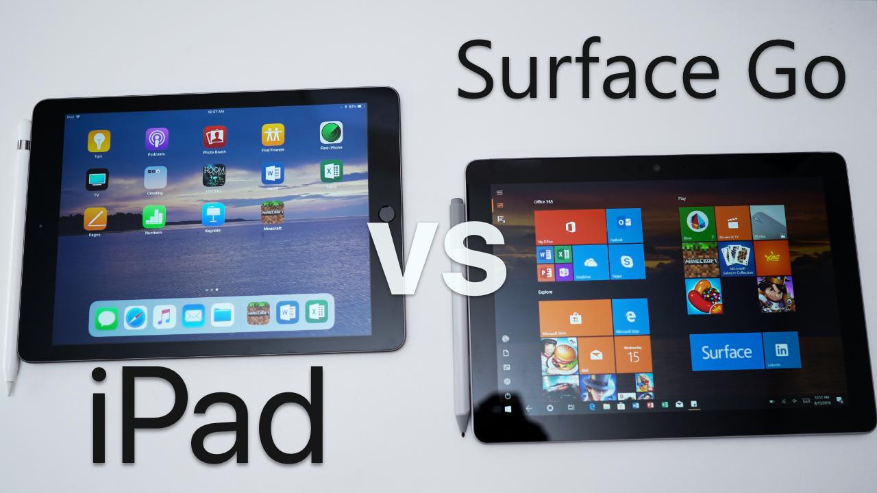 ipad  surface  full comparison zollotech