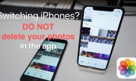 Switching iPhones? Don't delete photos on the old iPhone yet