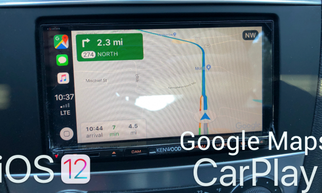 iOS 12 – Google Maps on Apple CarPlay
