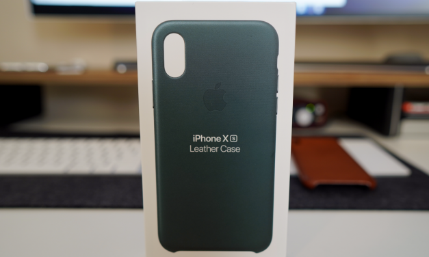 Official iPhone XS Leather Case